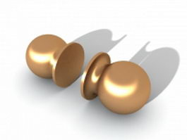 Brass drawer knobs 3d model