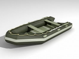Rubber assault boat 3d model
