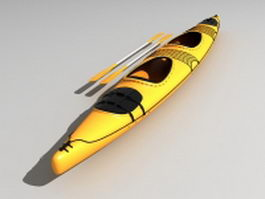 Sea touring kayak 3d model