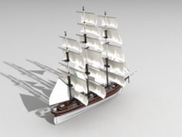 Ancient sailing ship 3d model