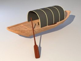 Ancient Chinese fishing boat 3d model