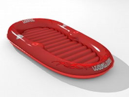 Water air mattress 3d model