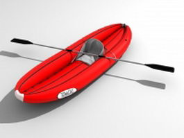 Inflatable fishing boat 3d model