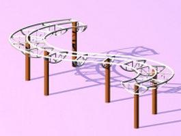 Park pergola structure 3d model
