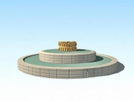 Circular fountain ring 3d model