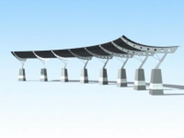 Plaza canopy structures 3d model