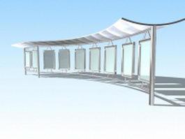 Park canopy 3d model