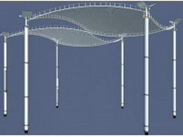 Modern plaza canopy 3d model