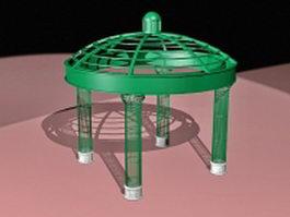 Round metal gazebo 3d model
