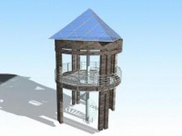 Viewing gazebo platform 3d model
