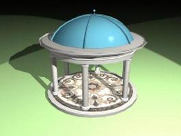 Roman gazebo design 3d model