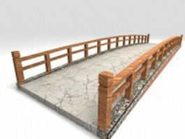 Vintage garden bridge 3d model