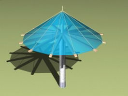 Umbrella shade structures 3d model
