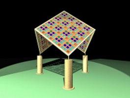Garden shade structure 3d model