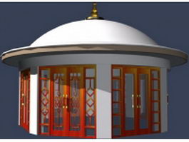 Yurt cabins shed 3d model