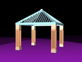 Patio gazebo 3d model