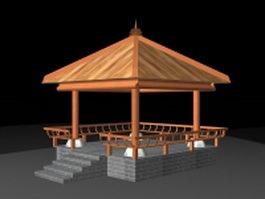 Rustic pavilion 3d model
