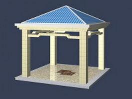 Square gazebo design 3d model