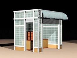 Street retail kiosk 3d model