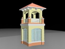 Enclosed pavilion 3d model