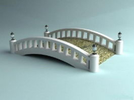 White garden bridge 3d model