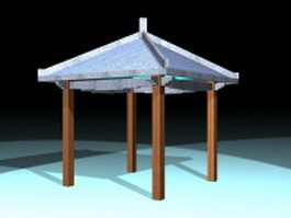 Gazebo for patios 3d model