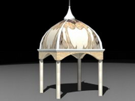 Islamic style gazebo 3d model