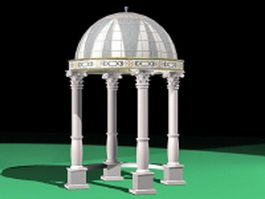 Roman gazebo pavilion 3d model