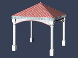 Home outdoor structure gazebo 3d model