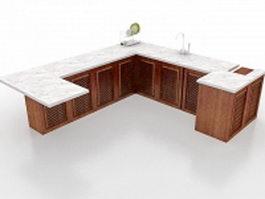 Kitchen worktop 3d model