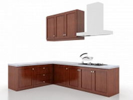 Simple L-shaped kitchen 3d model