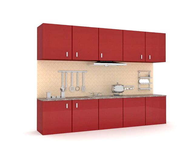 retro kitchen cabinets 3d model