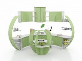 Modern corner kitchen cabinet ideas 3d model