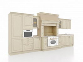 Europe kitchen design 3d model
