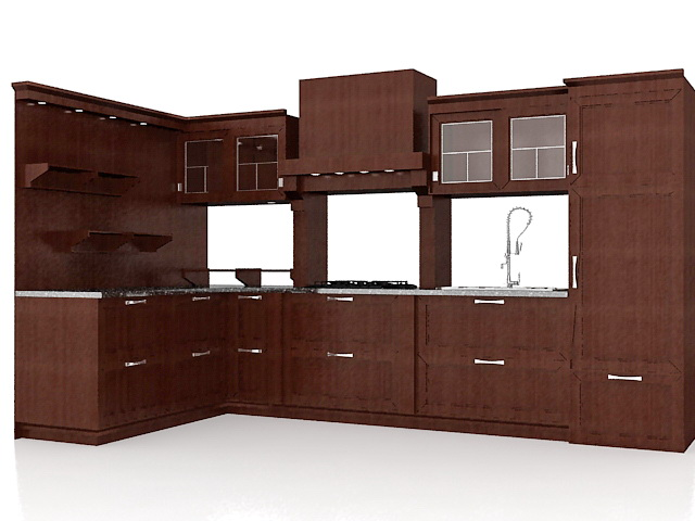 Kitchen Model kitchen cabinet and furniture 3d models free download - cadnav