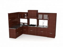 Classical kitchen design ideas 3d model