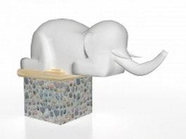 Elephant garden statue 3d model