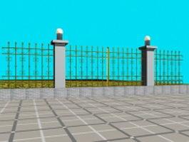 Garden fence design 3d model