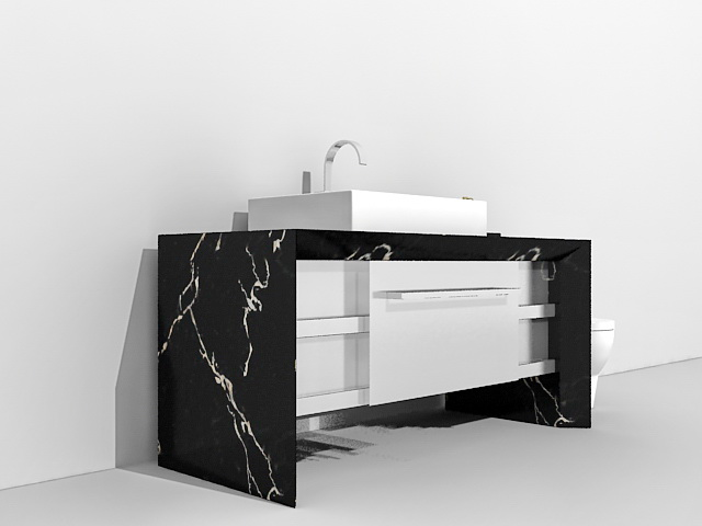 Bathroom Vanity And Toilet 48d Model 48ds Max Files Free Download Mesmerizing Black Marble Bathroom Model