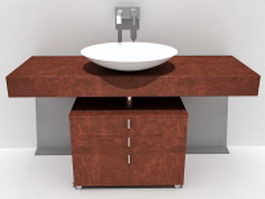 Bathroom vanity tops with sink 3d model