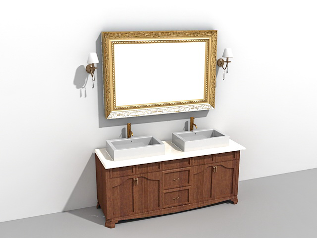Bathroom Vanity Mirrors Models And Buying Tips: Double Sink Bathroom Vanity With Mirror And Light Fixtures