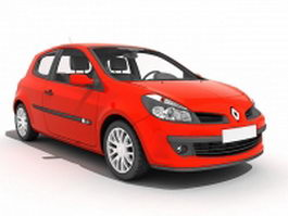 Renault Clio car red 3d model