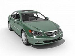 Acura RL luxury sedan car 3d model