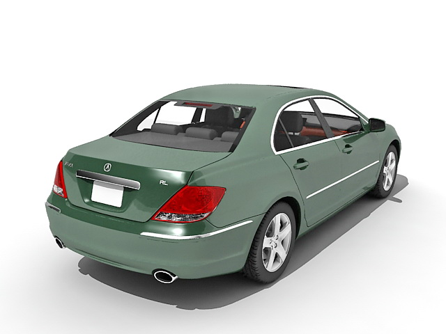 Acura Rl Luxury Sedan Car 3d Model 3ds Max Files Free