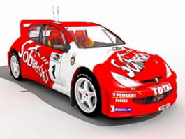 Peugeot 206 WRC 3d model