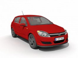 Opel Astra red 3d model