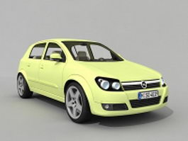 Opel small family car 3d model