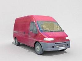Red cargo van 3d model