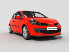 Renault Clio hatchback 3d model