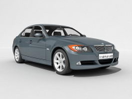 BMW 3 executive car 3d model